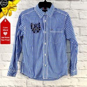 Tommy Hilfiger Shirts & Tops - Tommy Hilfiger Gingham Plaid Shirt ~0y6p1b1d